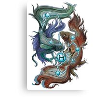 Pisces Star Sign Canvas Print