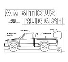 Ambitious but Rubbish Toybota blueprints  Photographic Print