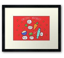 Christmas Vegetables Framed Print