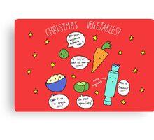 Christmas Vegetables Canvas Print