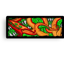 Green Blooded Changeling (wide) Canvas Print