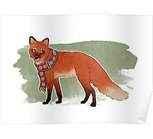 Scarf Fox Poster