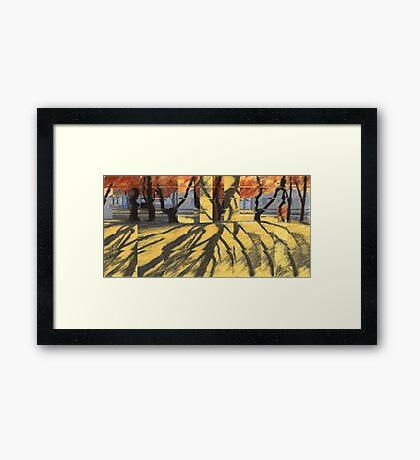 October -Quilt Framed Print