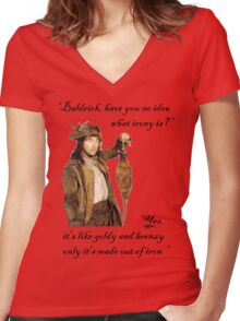 The Wisdom of Baldrick Women's Fitted V-Neck T-Shirt