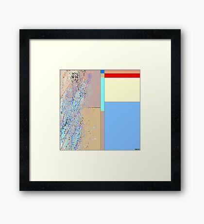blond sand Framed Print