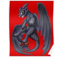 Playful Toothless Poster