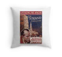 Sherlock Holmes  - The Strand Magazine Cover - Vintage Print Throw Pillow