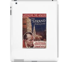 Sherlock Holmes  - The Strand Magazine Cover - Vintage Print iPad Case/Skin