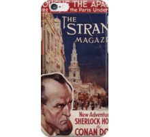 Sherlock Holmes  - The Strand Magazine Cover - Vintage Print iPhone Case/Skin