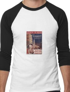 Sherlock Holmes  - The Strand Magazine Cover - Vintage Print Men's Baseball ¾ T-Shirt
