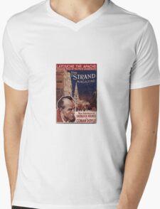 Sherlock Holmes  - The Strand Magazine Cover - Vintage Print Mens V-Neck T-Shirt