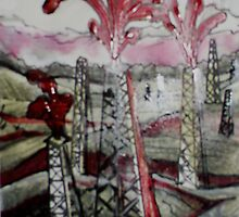 Blood of the Earth (Mixed Media)- by Robert Dye