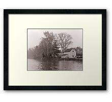 Home on Lake Framed Print