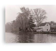 Home on Lake Canvas Print
