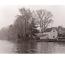 Home on Lake Photographic Print
