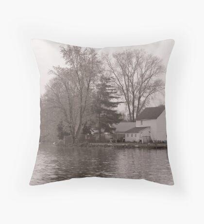 Home on Lake Throw Pillow