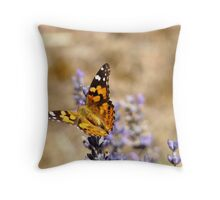 Butterfly Lavender Throw Pillow