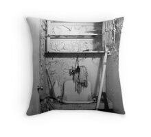 Absent Janitor Throw Pillow