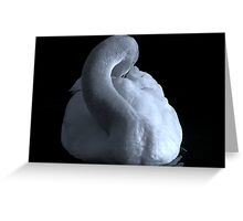 The Swan (In b&w) Greeting Card