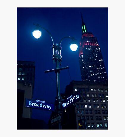 Lights on Broadway Photographic Print