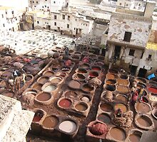 Moroccan Tannery by Carly Michael