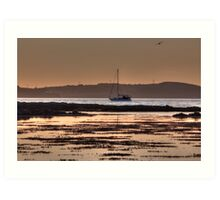 A Boat At Rest - Lovely sailing boat print - calm waters Art Print