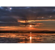 Fiery Sunset - Lovely Sun Set in Ireland, Deep Red and Orange Sky Photographic Print