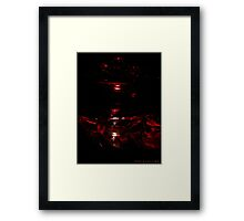 Red Touch  Framed Print