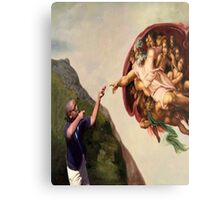 The Creation of Adam Yeet Kid vine Canvas Print