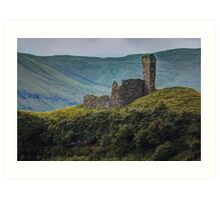 House on the Hill - Rustic Stone Building Atop A Green Hill Art Print