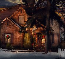 Christmas - Gingerbread House by Mike  Savad