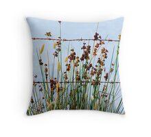 Rusty Weeds Throw Pillow