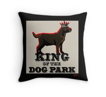 Labrador Retriever King of the Dog Park Throw Pillow
