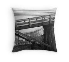 Footbridge Throw Pillow