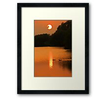 sunset in a cambridgeshire park Framed Print