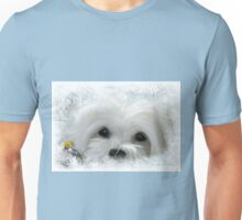 Snowdrop the Maltese of the Frozen North ! Unisex T-Shirt