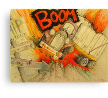 Crash Canvas Print