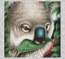 Cute Koala Munching a Leaf Kids Tee