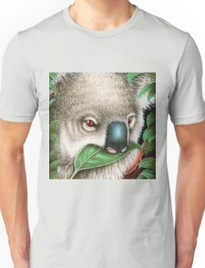 Cute Koala Munching a Leaf Unisex T-Shirt