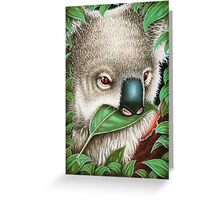 Cute Koala Munching a Leaf Greeting Card