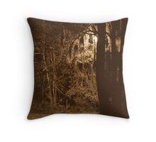 Creepy trees Throw Pillow