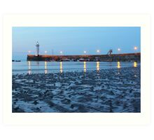 The Evening Lighthouse - Lovely photo of a lighthouse at dusk Art Print