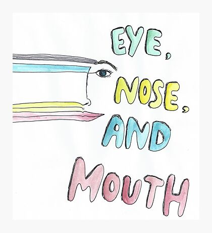 eye, nose and mouth Photographic Print