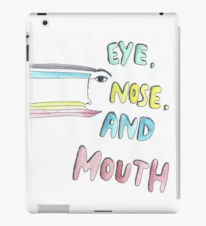 eye, nose and mouth iPad Case/Skin