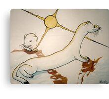 Ferret Family Canvas Print