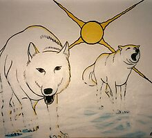 Arctic Wolves by Arnold Isbister