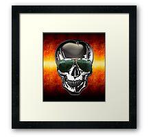 Skull Google Framed Print