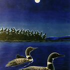 A Family Of Loons by Arnold Isbister