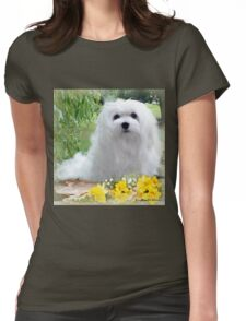 Snowdrop the Maltese Womens Fitted T-Shirt