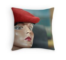 Raspberry Beret Throw Pillow